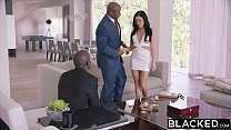 BLACKED Hot Megan Rain Gets DP'd By Her Sugar Daddy and His Friend image