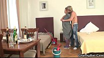 Morning sex with mature cleaning woman Preview