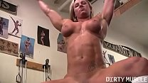 Naked Female Bodybuilder Shows Off Big Clit pornhub video