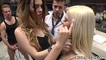 Anal gangbang with Misha Cross and Candee Licious