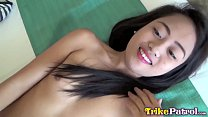 Trike Patrol - Cute young Filipina all smiles for white cock
