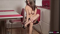 Stunning Czech hottie Nici Dee enjoys rubbing her wet pussy