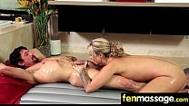 Gorgeous Skinny gets a massage 13