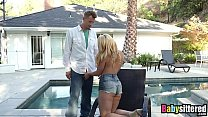 Hot And Horny Blonde Babysitter Aj Applegate Gets Fucked