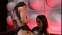 Lesbian stripper seduces girl preview image