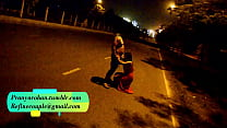 Pranya getting fucked on running road with Police Sirens behind Preview