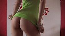 Hot and naughty dance in thong and stockings