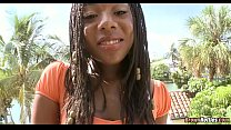Fit Black Babe goes Interracial