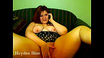 sexy BBW redhead spreads and plays with her fat pink pussy on cam