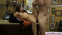 Tight babe pounded by perverted pawn guy