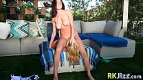MILF stepmom learned teen Darcie Dolce to use a...