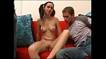 Innocent teenie shagged by two nasty friends