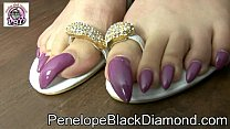 penelope black diamond feet