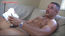 Latino gay boxer jerking off