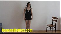 18yo amateur student spreads her legs at 1st casting Preview