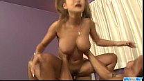Kurea Mutou busty babe screams with cock in her...