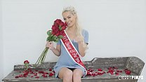 Petite Blonde Babe Elsa Jean is Crowned Cherry ... thumb