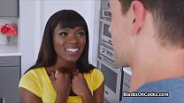 Kitchen quickie with cock stealing nubian beauty preview image