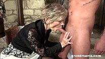 old and young, granny and nephew enjoy oral sex thumb
