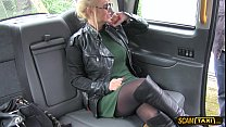 Full bosomed woman gets pussy licked and fucked hard in the taxi tumblr xxx video