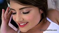 Adria and romi in threesome with horny guy thumb