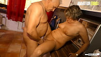 AMATEUR EURO - Horny German Wife Katey Takes It From Her Man