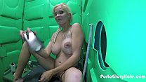 Porta Gloryhole Blonde milf sucking dick in the...