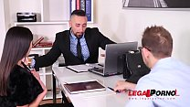 Business Seduced by Horny Milf Alyssia Kent For Hardcore DP Threesome GP063