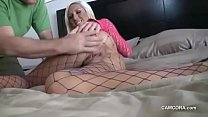 Hot Teen Masturbate Pussy and Give Men Blowjob to Cum in Mouth