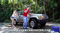 DON'T FUCK MY DAUGHTER - Naughty Sierra Nicole Fucks The Carwash Man