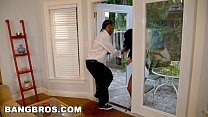 BANGBROS - Gina Valentina Locked Out, Takes Step Brother's Big Black Cock