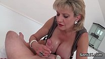 Unfaithful english milf lady sonia shows off her huge boobies - download porn videos