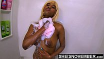 Daddy Why Do You Watch Me In The Shower Wash My Dirty Ass Cheeks And Nipples? Petite Black Daughter Msnovember Washing Her Big Booty And Huge Natural Bomb Shells and Areolas While Freaky Step Father In Bathroom  on Sheisnovember HD صورة