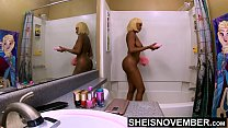 7959 Daddy Why Do You Watch Me In The Shower Wash My Dirty Ass Cheeks And Nipples? Petite Black Daughter Msnovember Washing Her Big Booty And Huge Natural Bomb Shells and Areolas While Freaky Step Father In Bathroom  on Sheisnovember HD preview