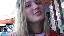 Pretty young blonde pummeled by big black dick Preview