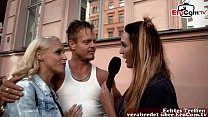 german couple pick up for test in swinger club - TV reportage