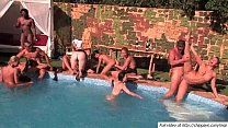 Hot chicks fucked in holes in pool