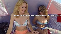 GIRLS GONE WILD - Young & Gorgeous Lesbians Have Sex On The Beach thumbnail