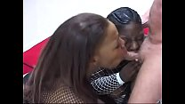 Young black BBW babes sucks dude's cock and sho...'s Thumb