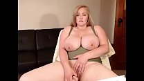 Hot chubby blonde with huge boobs