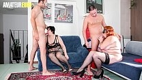 AMATEUR EURO - Amateur BBW Women Bangs Hard Wit...