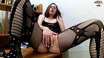 Brunette Passionate Fingering and Masturbates Pussy Sex Toys during Watching Porn