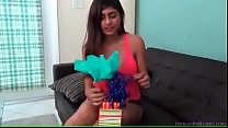 Indian babe's birthday surprise - watch more at teenandmilfcams.comm