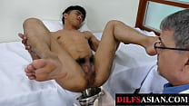 Asian twink fingered and breeded at the doctor