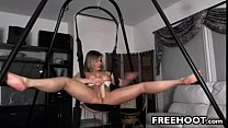Dirty MILF Masturbating On The Swing