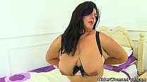 English milf Katie is ready for pleasure in her...