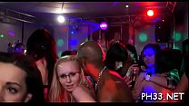 Group wild sex patty at night club schlongs and pusses each where