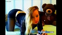 Webcamgirl feeling shy on adult camera at TryLiveCam.com