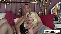 MILF lets him cum in her pussy