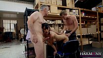 Dirty indian sex ⁃ HARMONY VISION Milf Anal Threesome at the office thumbnail